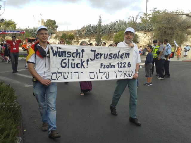 Jerusalem March Feast of Tabernacles צעדת ירושלים